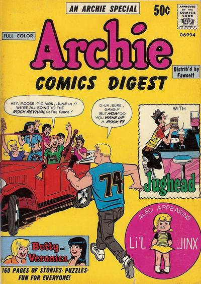 Cover for Archie Comics Digest (Archie, 1973 series) #1