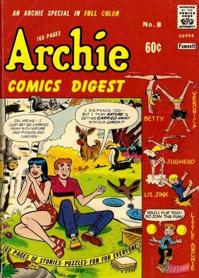 Cover for Archie Comics Digest (1973 series) #8