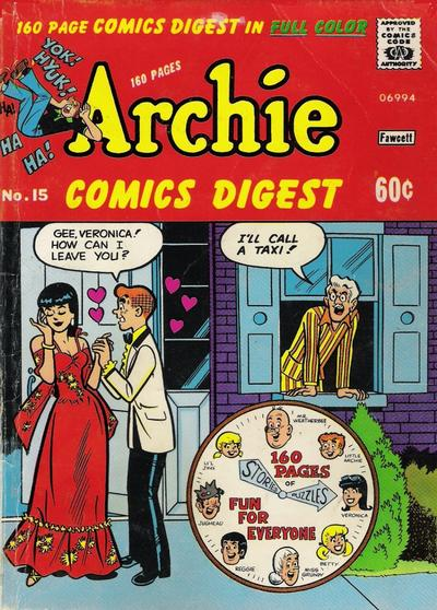 Cover for Archie Comics Digest (1973 series) #15
