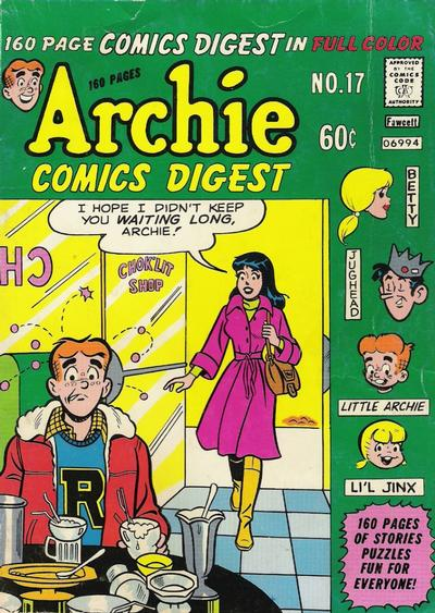 Cover for Archie Comics Digest (1973 series) #17