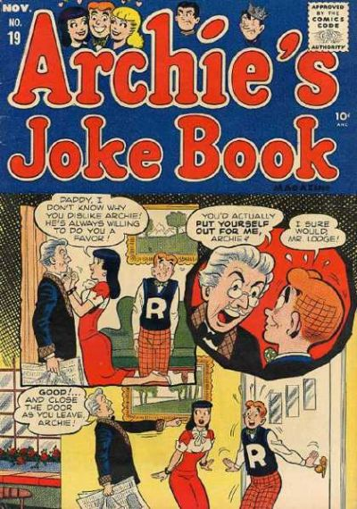 Cover for Archie's Joke Book Magazine (Archie, 1953 series) #19