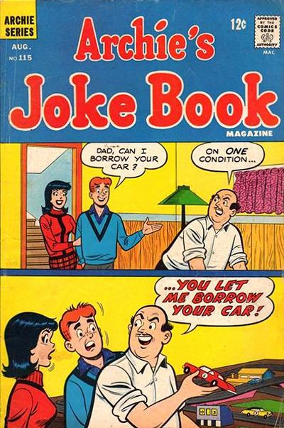 Cover for Archie's Joke Book Magazine (Archie, 1953 series) #115