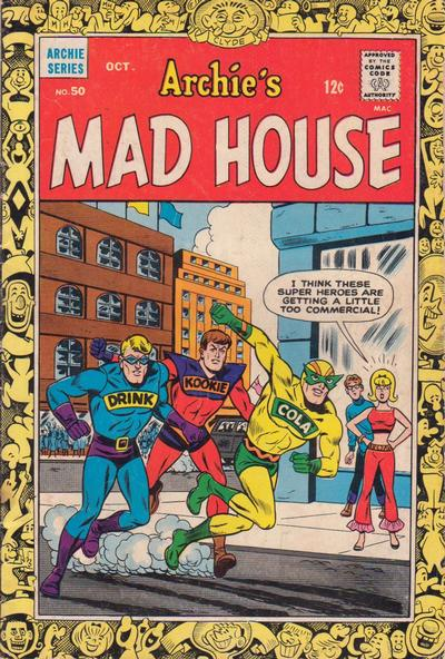 Cover for Archie's Madhouse (Archie, 1959 series) #50