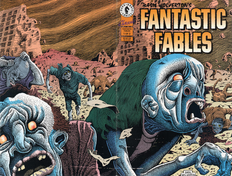 Cover for Basil Wolverton's Fantastic Fables (Dark Horse, 1993 series) #1