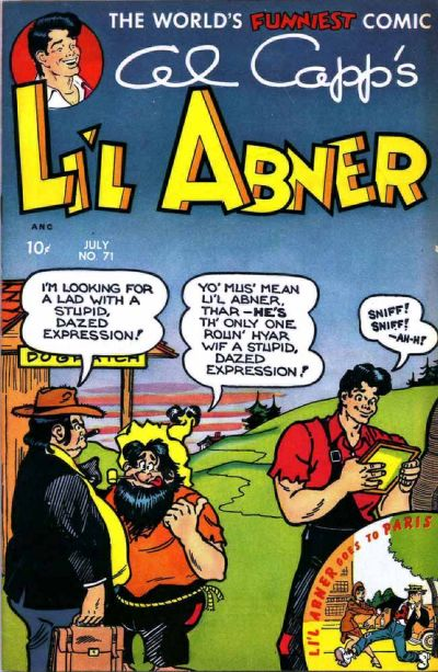Cover for Al Capp's Li'l Abner (Toby, 1949 series) #71
