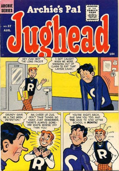Cover for Archie's Pal Jughead (Archie, 1949 series) #37