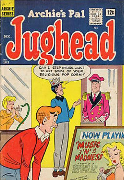 Cover for Archie's Pal Jughead (Archie, 1949 series) #103