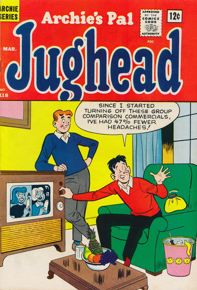 Cover for Archie's Pal Jughead (Archie, 1949 series) #118