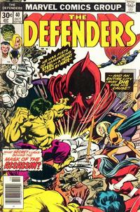 Cover Thumbnail for The Defenders (Marvel, 1972 series) #40 [Regular Edition]