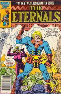 Cover Thumbnail for Eternals (Marvel, 1985 series) #11 [Newsstand Edition]