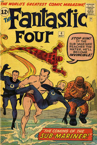 Cover for Fantastic Four (Marvel, 1961 series) #4