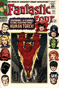 Cover Thumbnail for Fantastic Four (Marvel, 1961 series) #54 [Regular Edition]