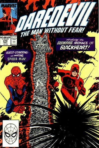 Cover for Daredevil (Marvel, 1964 series) #270 [Direct Edition]