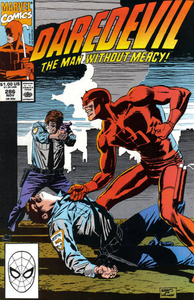 Cover for Daredevil (Marvel, 1964 series) #286 [Direct Edition]