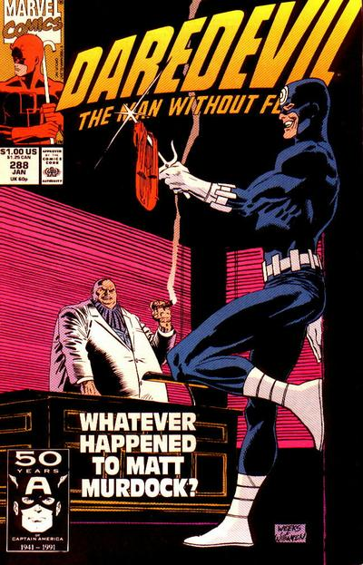 Cover for Daredevil (Marvel, 1964 series) #288 [Direct Edition]