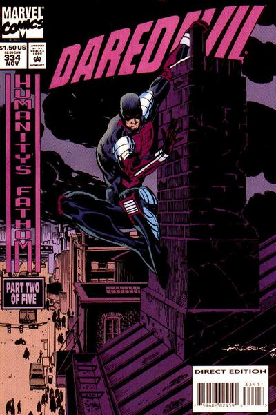Cover for Daredevil (Marvel, 1964 series) #334 [Direct Edition]