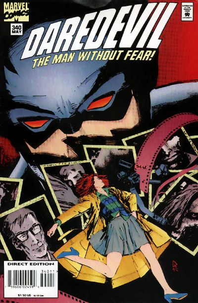 Cover for Daredevil (Marvel, 1964 series) #340 [Direct Edition]