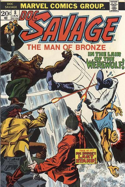 Cover for Doc Savage (Marvel, 1972 series) #8