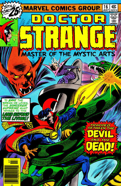 Cover for Doctor Strange (Marvel, 1974 series) #16 [25¢ Cover Price]