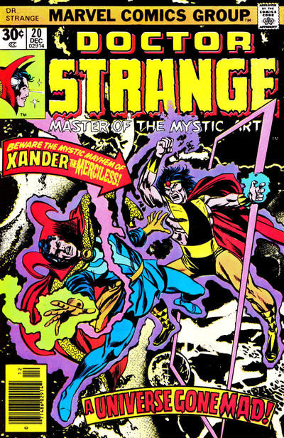 Cover for Doctor Strange (Marvel, 1974 series) #20