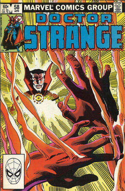Cover for Doctor Strange (Marvel, 1974 series) #58 [Direct Edition]