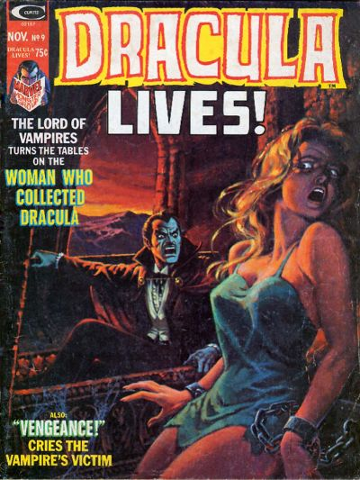 Cover for Dracula Lives (Marvel, 1973 series) #9