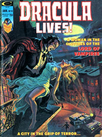 Cover for Dracula Lives (Marvel, 1973 series) #10