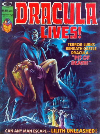 Cover for Dracula Lives (Marvel, 1973 series) #11