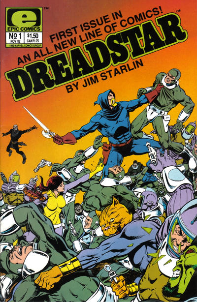 Cover for Dreadstar (Marvel, 1982 series) #1
