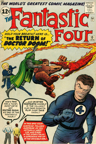 Cover for Fantastic Four (1961 series) #10