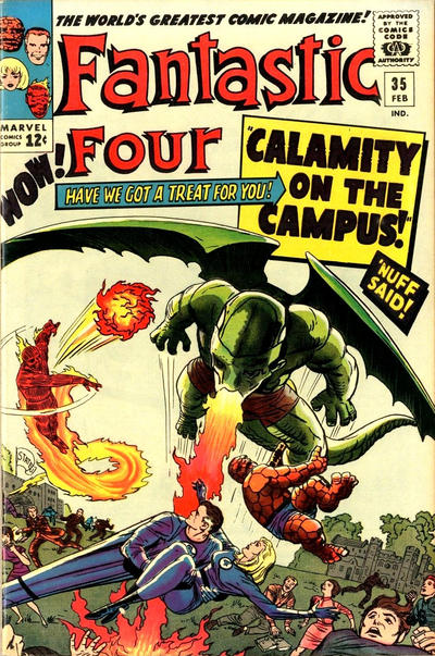 Cover for Fantastic Four (Marvel, 1961 series) #35