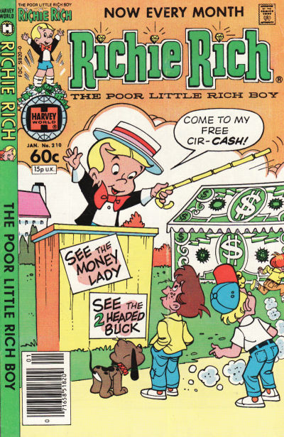 Cover for Richie Rich (1960 series) #210