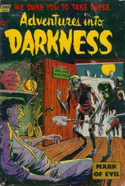 Cover for Adventures into Darkness (Standard, 1952 series) #8