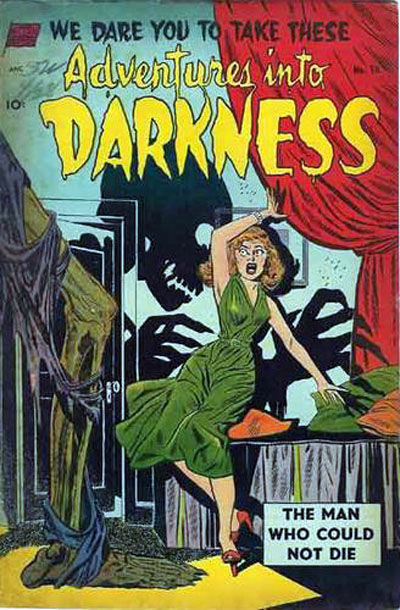 Cover for Adventures into Darkness (Standard, 1952 series) #10