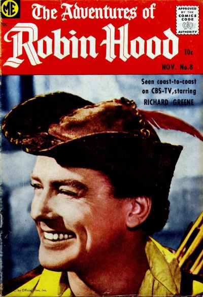 Cover for The Adventures of Robin Hood (Magazine Enterprises, 1957 series) #8
