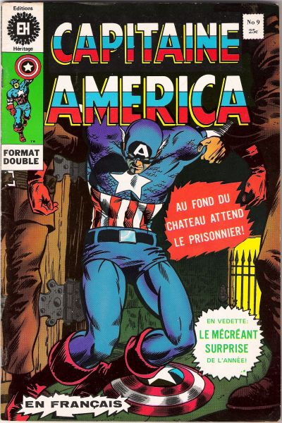 Cover for Capitaine America (Editions Héritage, 1970 series) #9