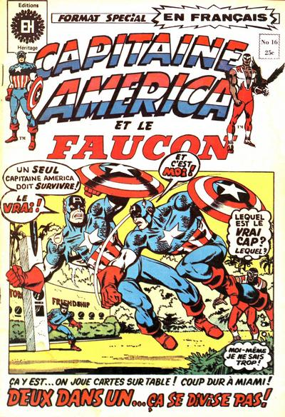 Cover for Capitaine America (Editions Héritage, 1970 series) #16