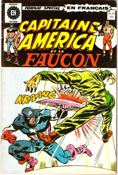 Cover for Capitaine America (Editions Héritage, 1970 series) #55