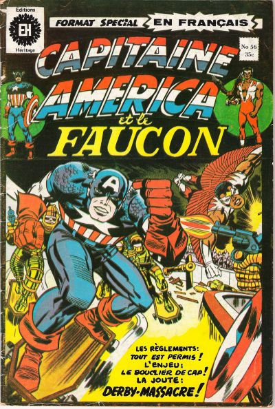 Cover for Capitaine America (1970 series) #56