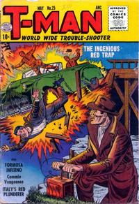 Cover Thumbnail for T-Man (Quality Comics, 1951 series) #25