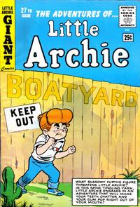 Cover Thumbnail for The Adventures of Little Archie (Archie, 1961 series) #27