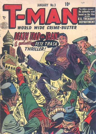 Cover for T-Man (Quality Comics, 1951 series) #3