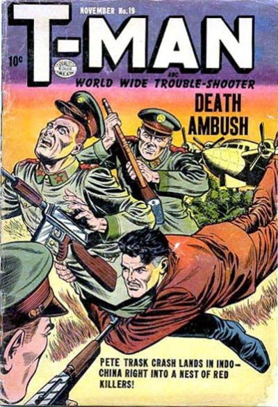 Cover for T-Man (Quality Comics, 1951 series) #19