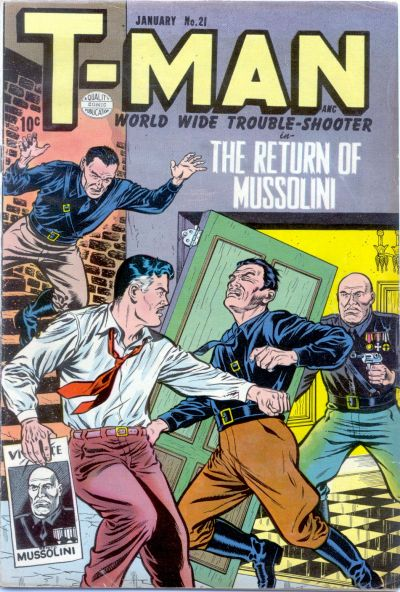 Cover for T-Man (Quality Comics, 1951 series) #21