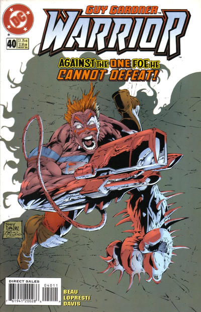 Cover for Guy Gardner: Warrior (DC, 1994 series) #40