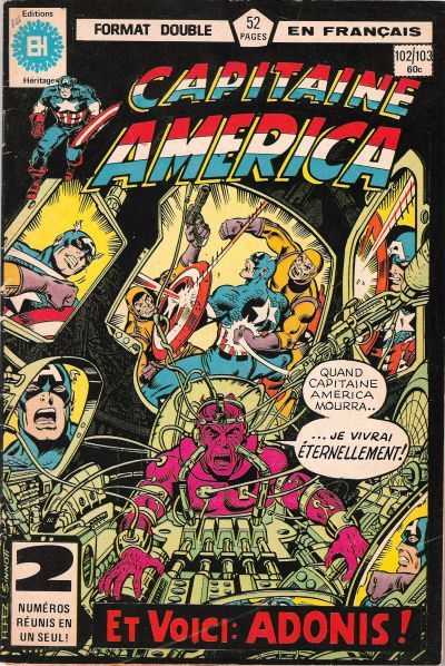 Cover for Capitaine America (Editions Héritage, 1970 series) #102/103