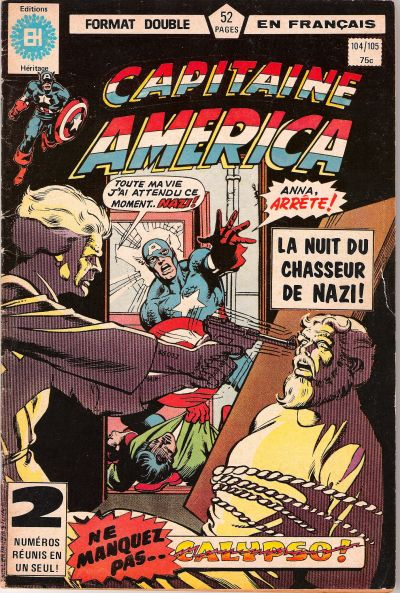 Cover for Capitaine America (Editions Héritage, 1970 series) #104/105