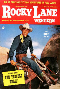 Cover Thumbnail for Rocky Lane Western (Fawcett, 1949 series) #21