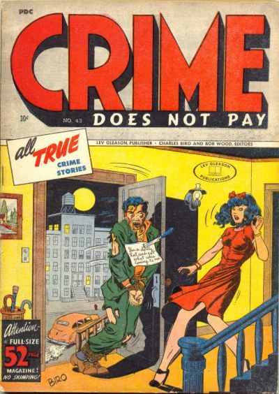Cover for Crime Does Not Pay (Lev Gleason, 1942 series) #43