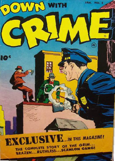 Cover for Down with Crime (Fawcett, 1952 series) #2